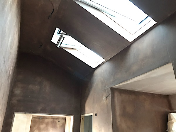 Boarding - vaulted ceiling