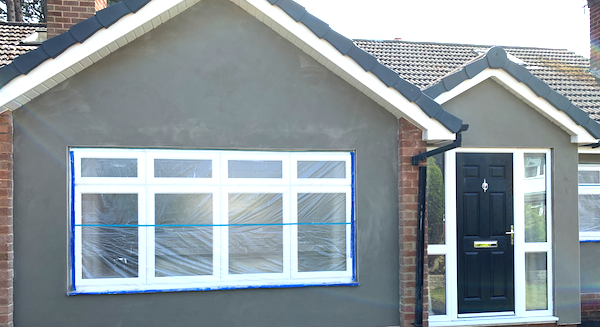 Outside render with door
